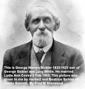 George W Sickler 1833-1922