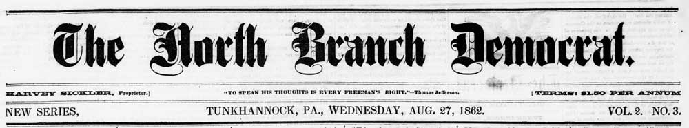 North Branch Democrat masthead