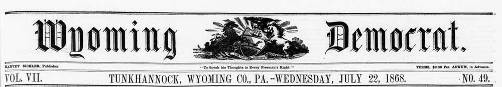 Wyoming Democrat masthead