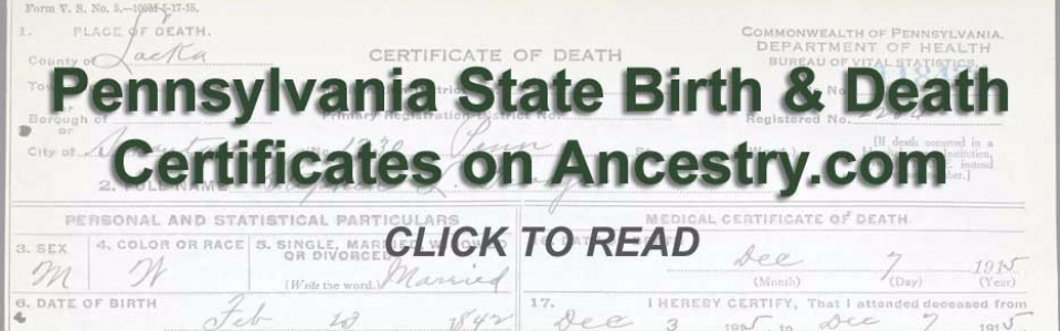 PA-Death-and-Birth-certificates on Ancestry.com