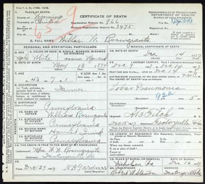 PA Death Certificate