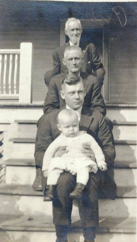 Four generations of Pickett men