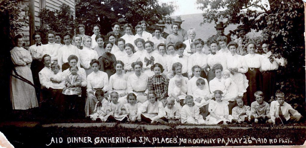 Aid Dinner Mehoopany 1910 (photo from Lois Tiller)