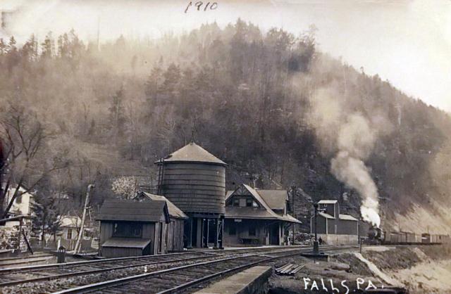 Falls PA 1910 Railroad Depot