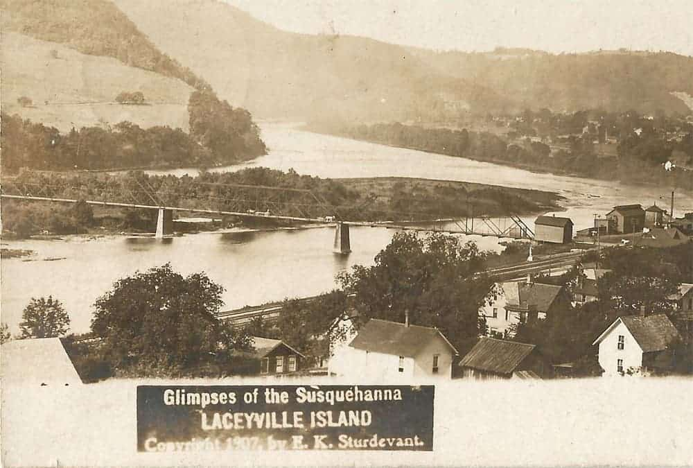 Laceyville Island postcard photo 1907