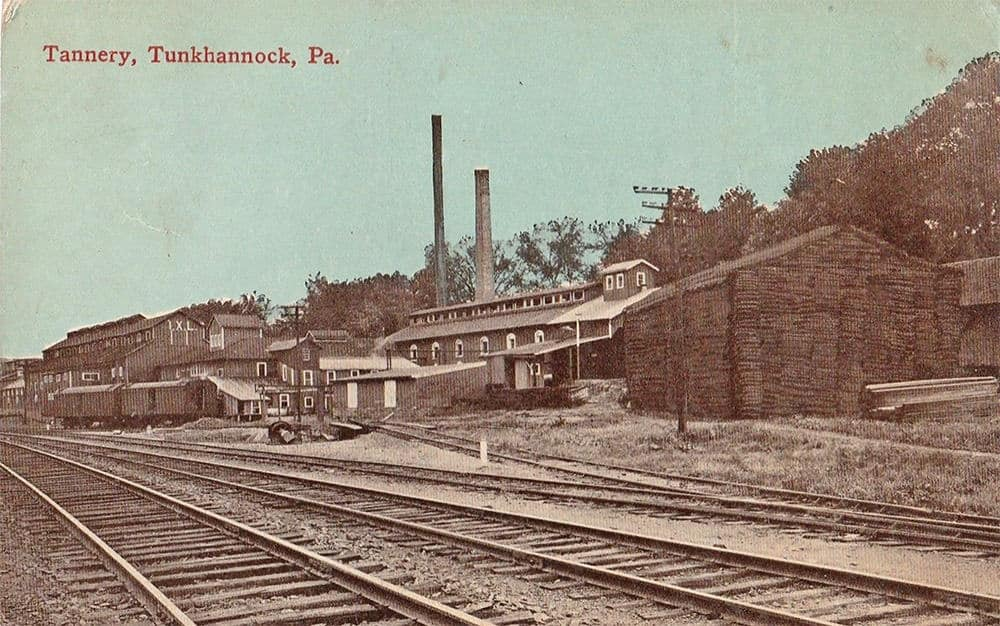 Tannery in Tunkhannock on a postcard