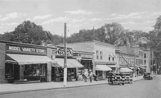 Tioga Street in Tunkhannock, c1924