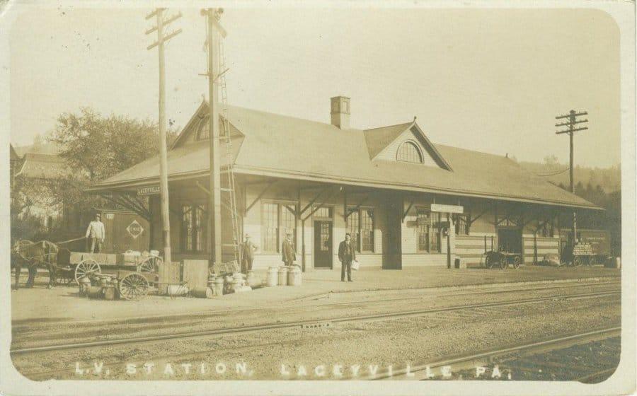 Laceyville, PA L.V. depot