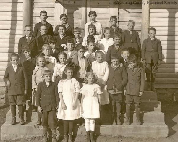 Close-up of school children
