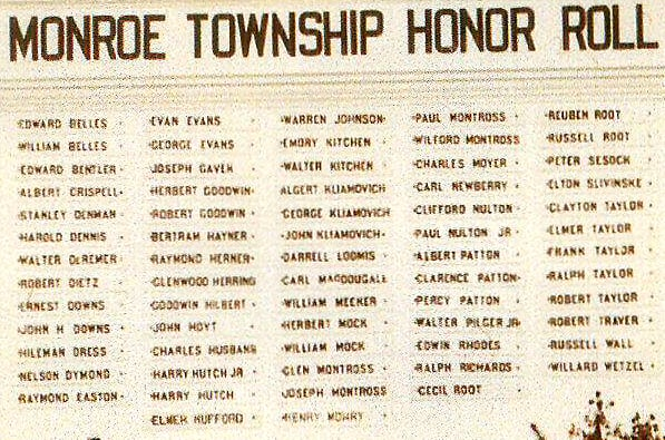 Monroe Township Honor Roll (Leah Millard)