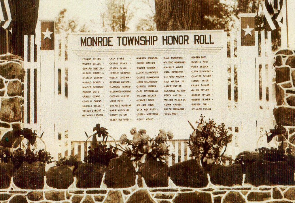 Monroe Township Honor Roll sign
